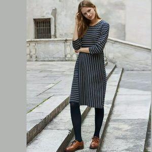 Poetry London cotton stripe jersey dress